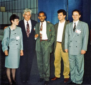 Professor Davis at the 1992 Earth Summit with AOSIS Chairman Robert Van Lierop and members of the Foundation for International Law and Development