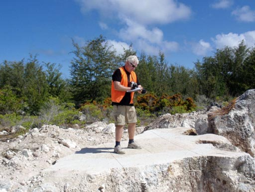 Professor Davis surveys sustainably developed stone quarrying